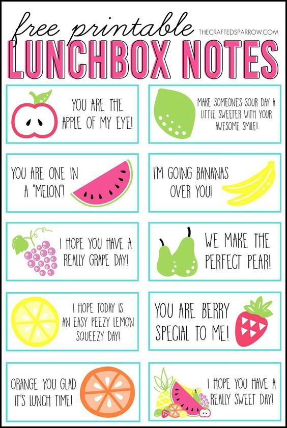 lunch box notes 22