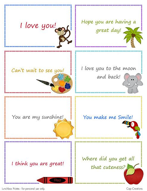lunch box notes 25