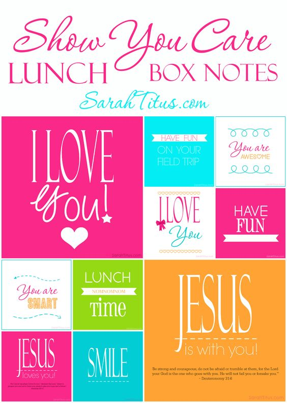 lunch box notes 31