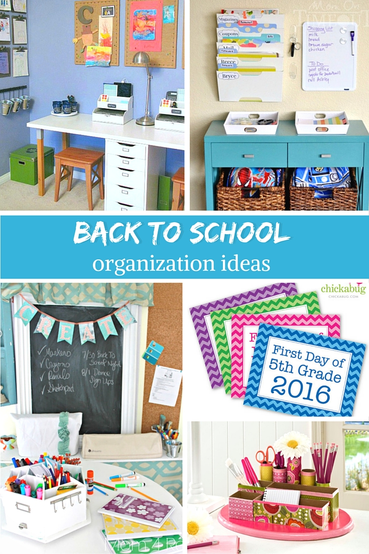 Back to School Organization Ideas - Craftaholics Anonymous