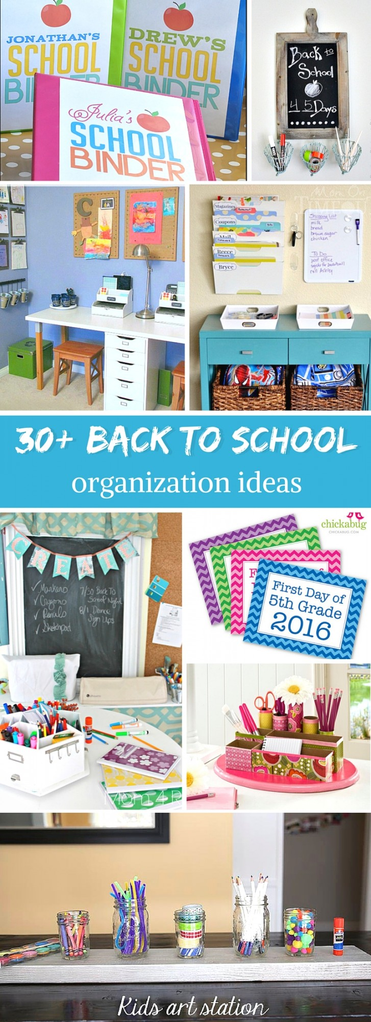 Get Organized for Back to School this year! Over 30 amazing tips, tricks, crafts and DIYs to get you on track for a successful return to school!