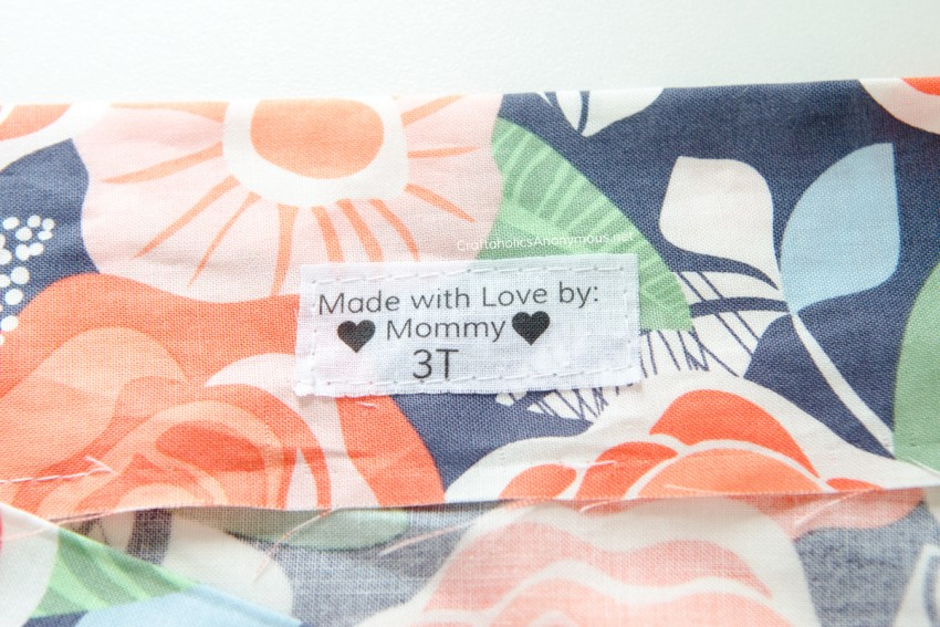 DIY Clothing Labels tutorial with a printer