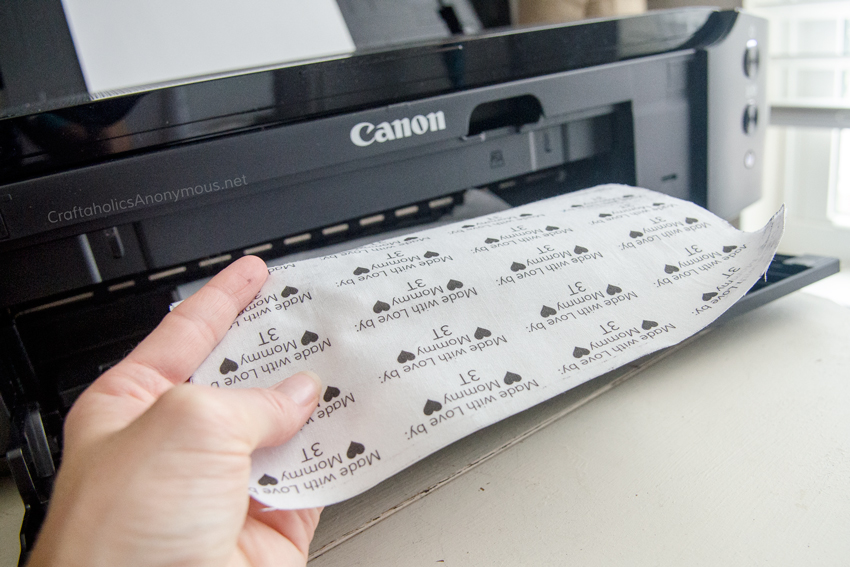 How to print DIY fabric labels tutorial