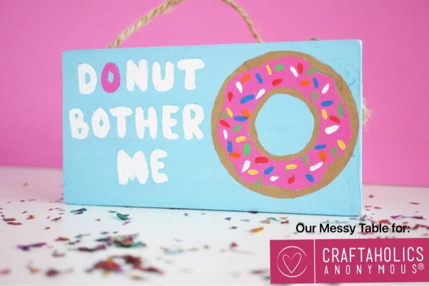 donut bother me door hanger