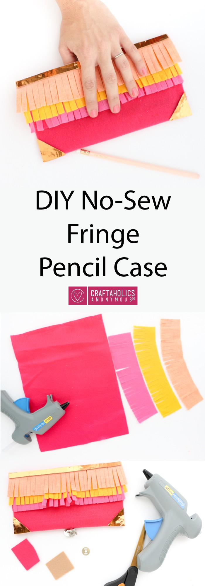 New-Sew Fringed Pencil Case! Easy back to school project at craftaholicsanonymous.net