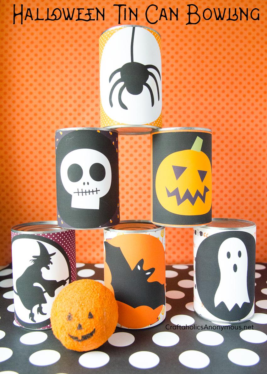 DIY Halloween Bowling Game - Free Printables