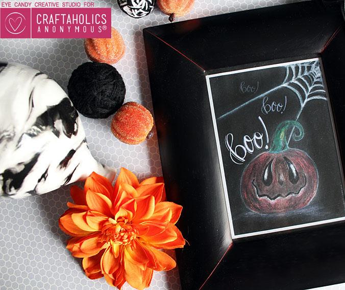 Craftaholics Anonymous: FREE Halloween Chalk Art Print