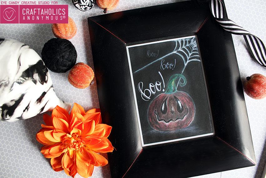 Free Halloween Chalk Art Print