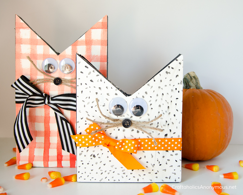 DIY Halloween cats craft idea