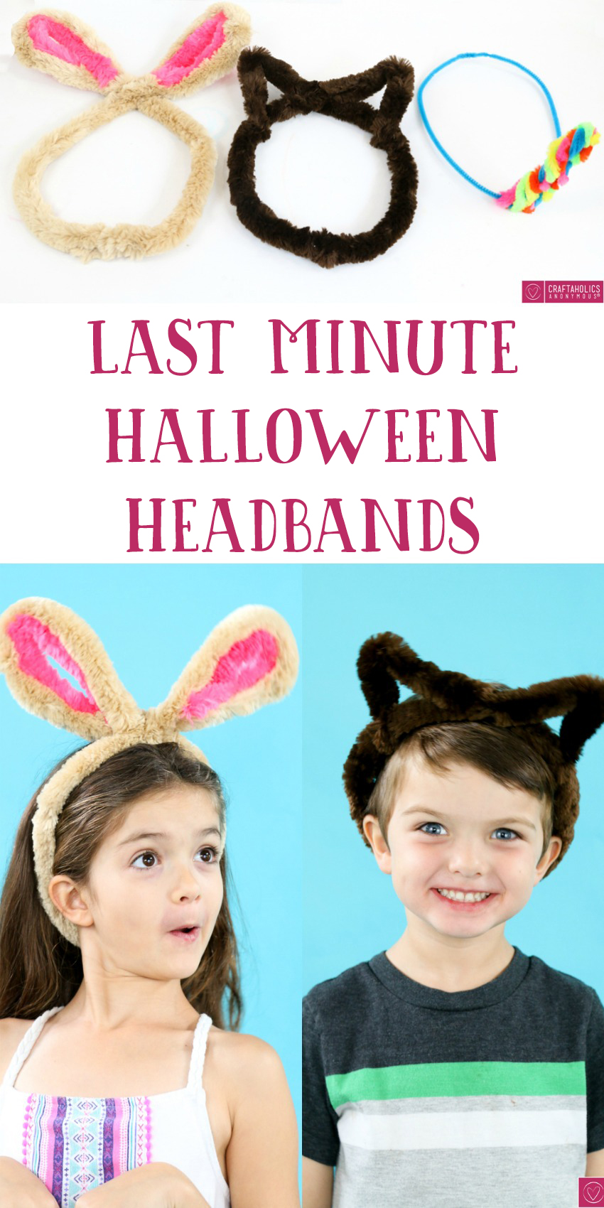 Last Minute Halloween Costumes! Easy DIY Costumes or a fun Halloween craft for your kids! craftaholicsanonymous.net