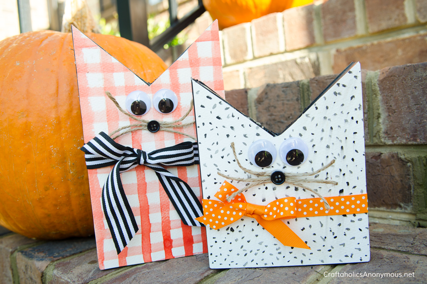DIY Wood Cats for Halloween with free printable