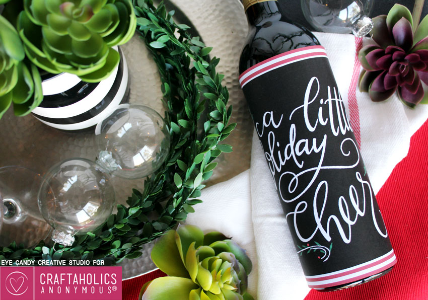 free holiday printable bottle wrap