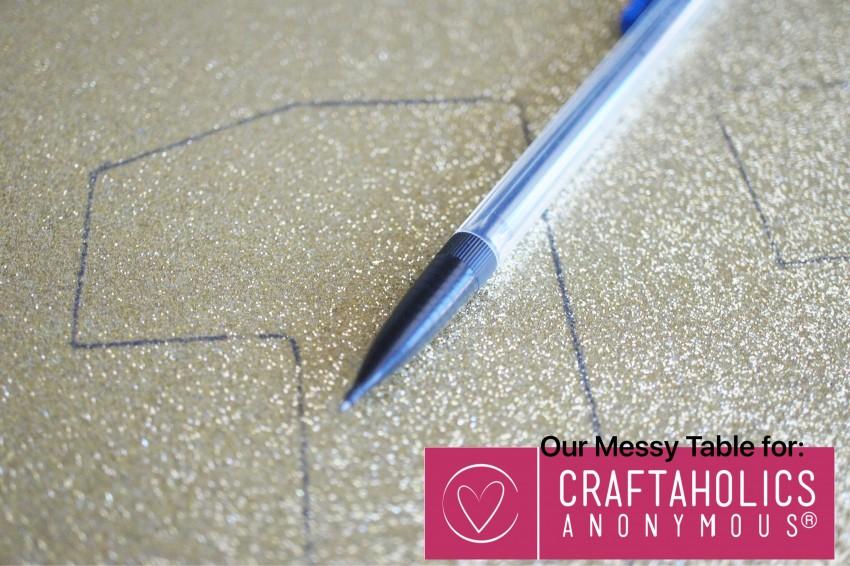 easy glitter letter craft