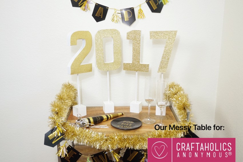 glitter letters for new years