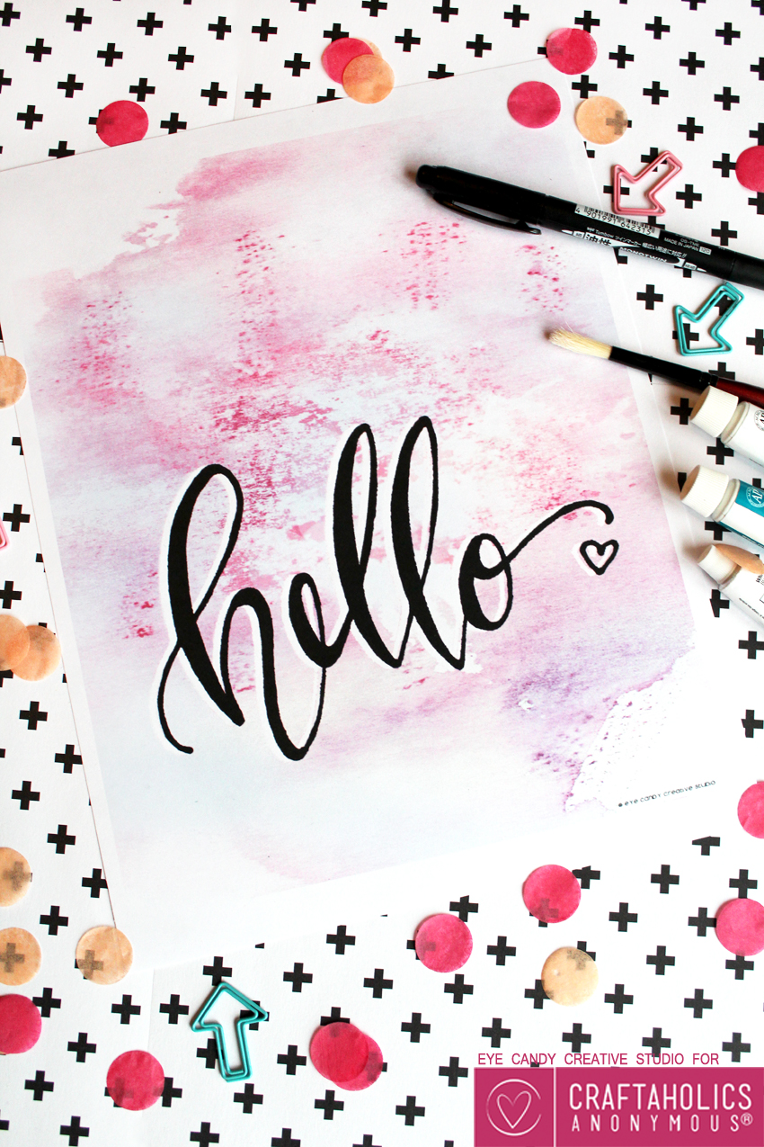 Cute Free Hello Printable