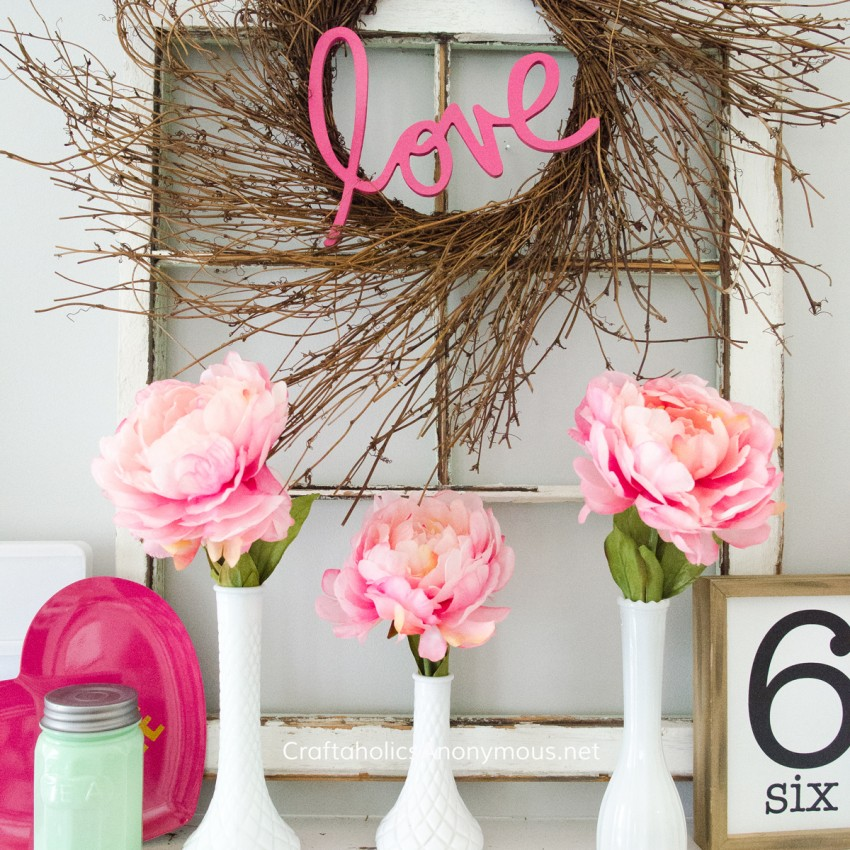 DIY Valentine Decor ideas @CraftaholicsAnonymous