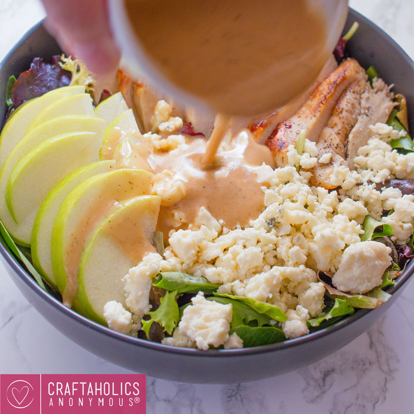 easy and delicious grilled chicken apple gorgonzola salad