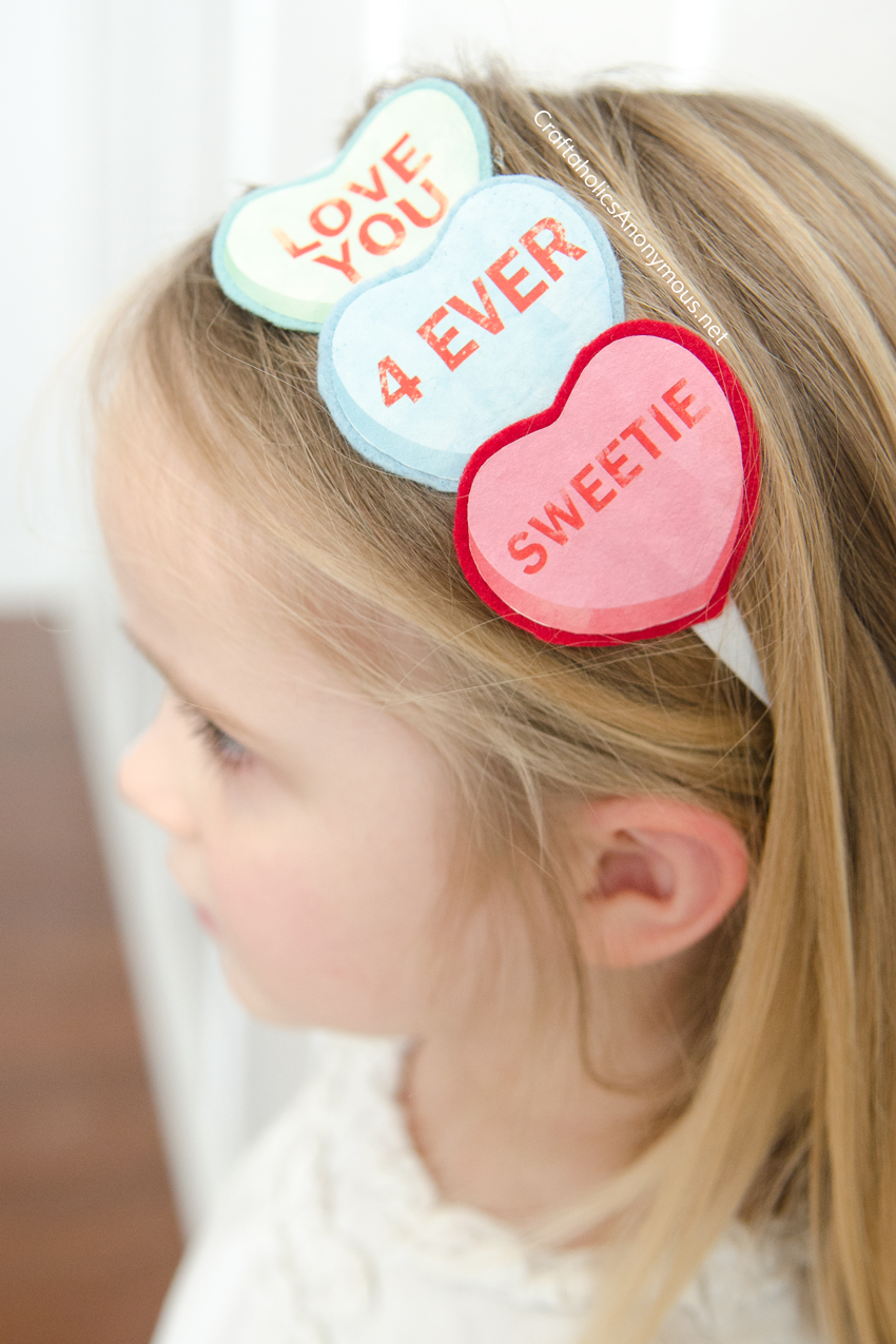 DIY Valentine Headband tutorial
