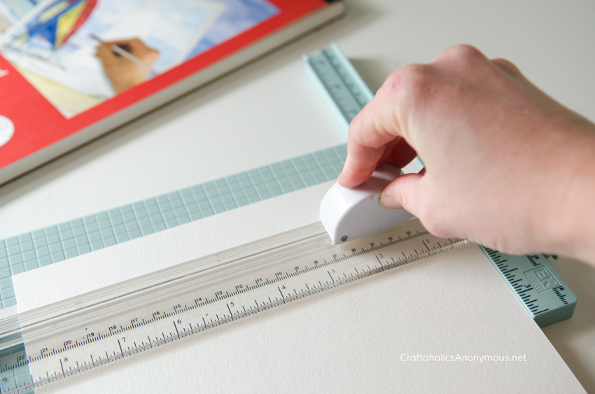 cutting watercolor paper