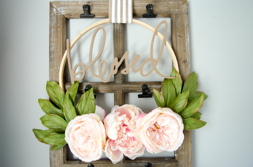How to make DIY Embroidery hoop wreath