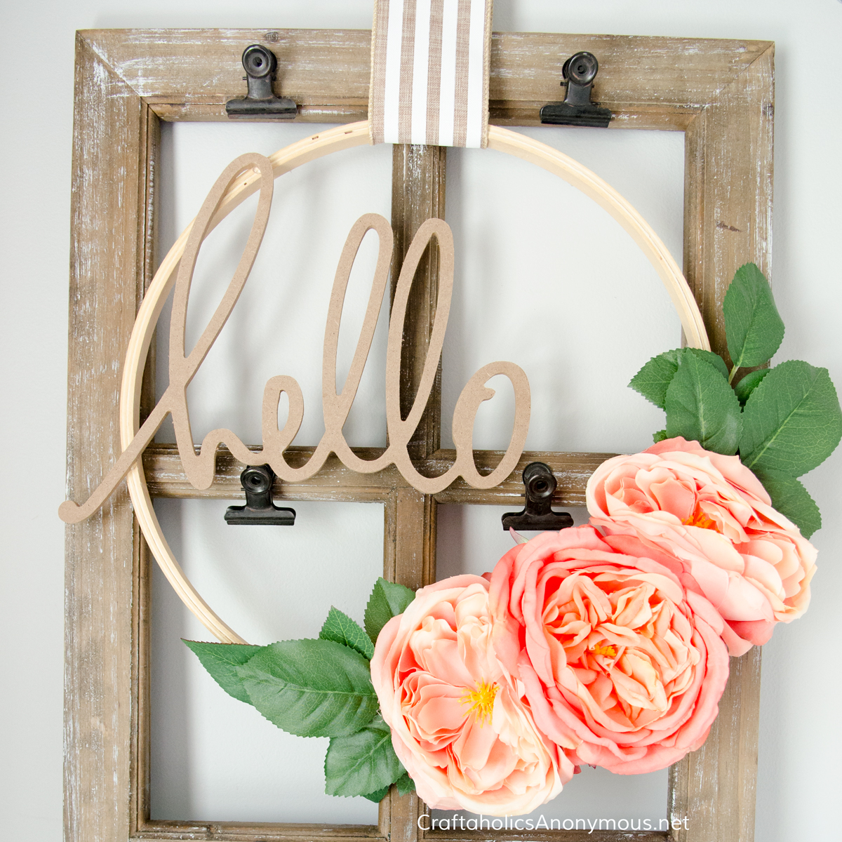 Hoop Wreath Farmhouse