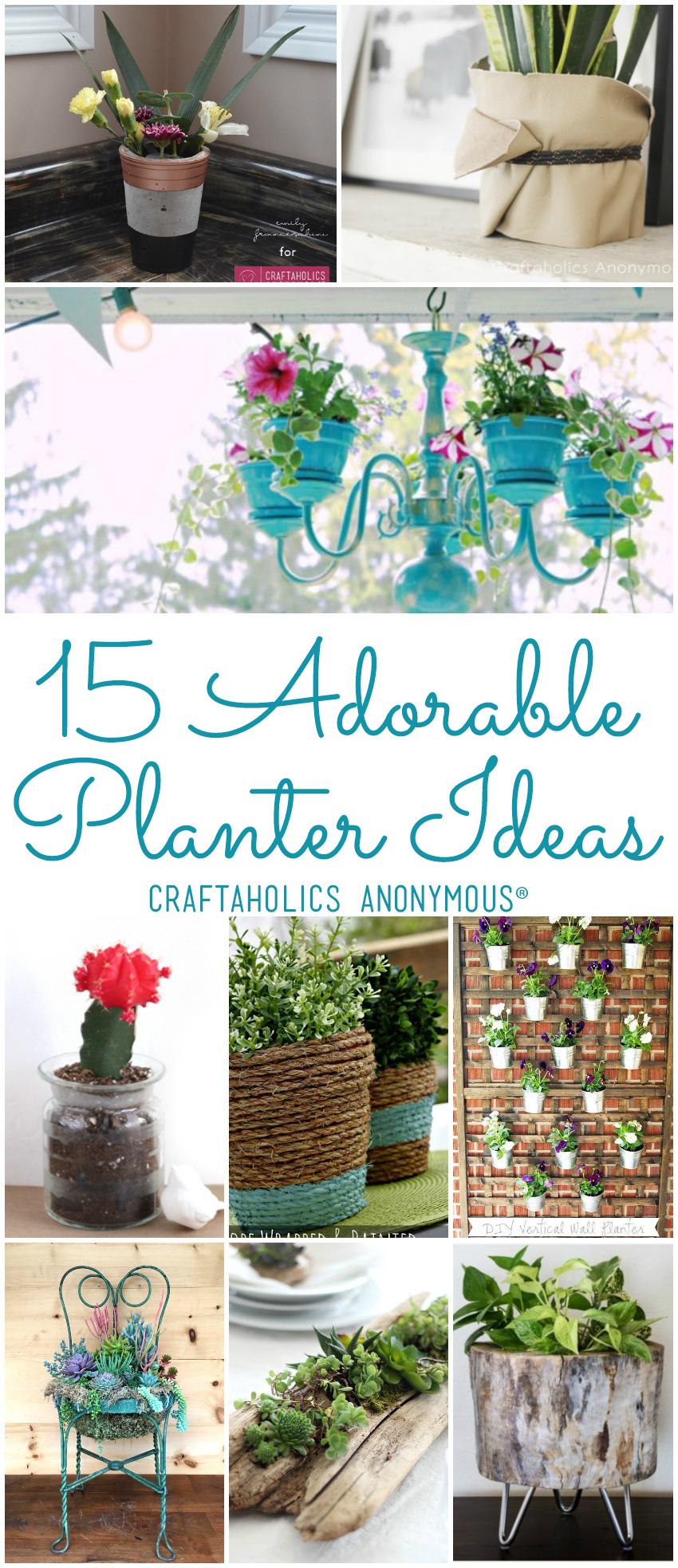 15 DIY Planter Ideas