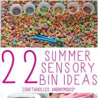 22 Sensory Bin Ideas-Featured