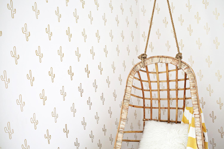 faux wallpaper DIYs