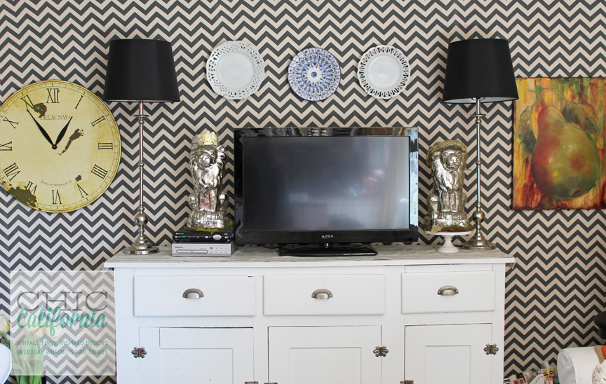 Diy Faux Wallpaper Accent Wall Statement Wall Diy Wallpaper