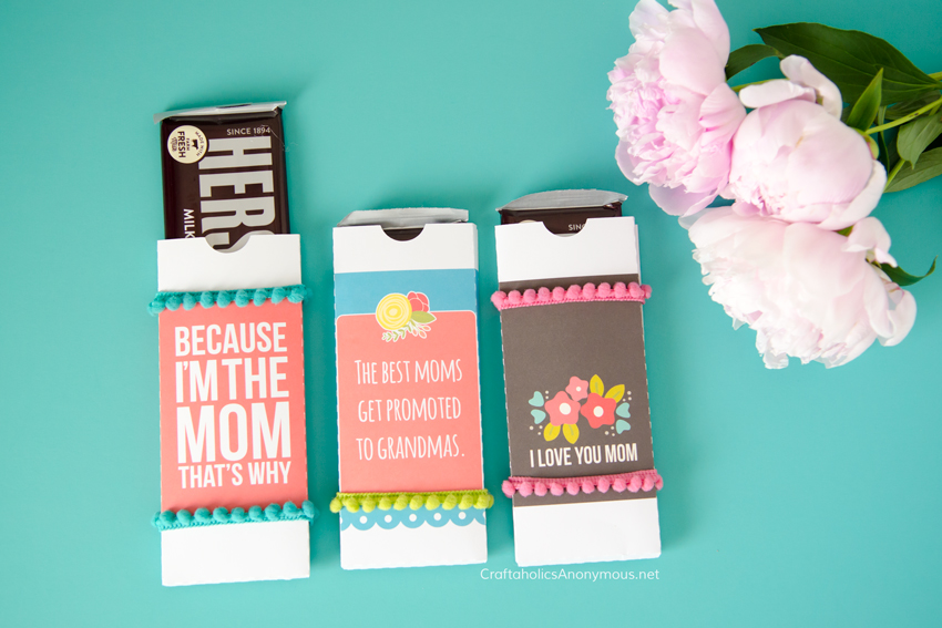 DIY Mother's Day Chocolate Bar gift idea / craft