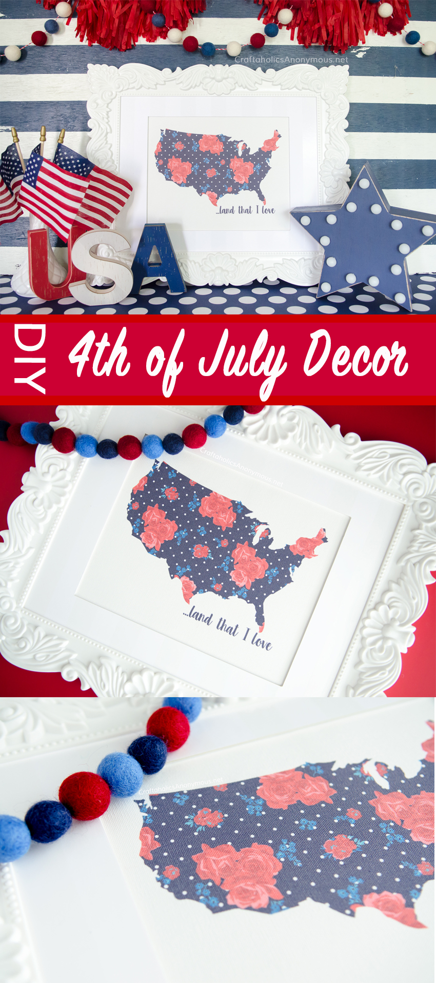 4th of July Decor DIY and crafts