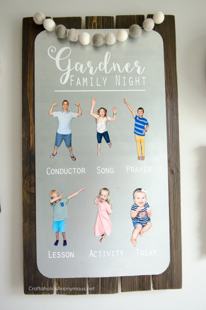 DIY Family Home Evening Board :: Such a clever idea!