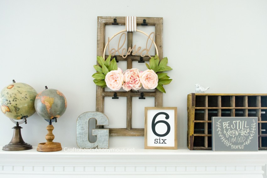 Easy Everyday Mantel decor