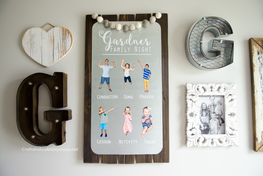 Family Night Board DIY