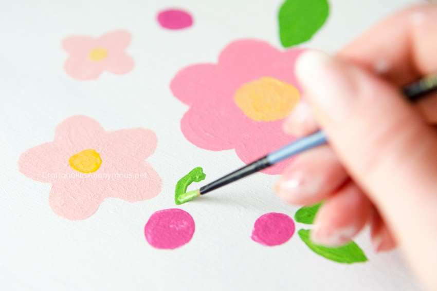 Hand painted florals DIY