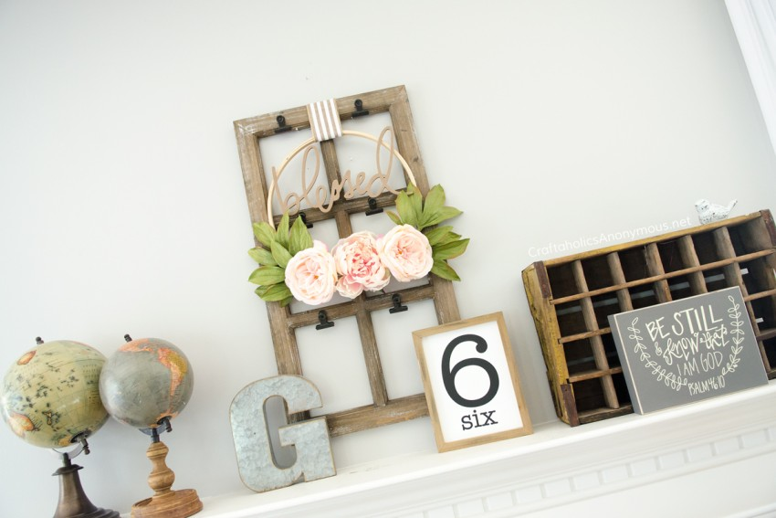 DIY Rustic Farmhouse Mantel decor