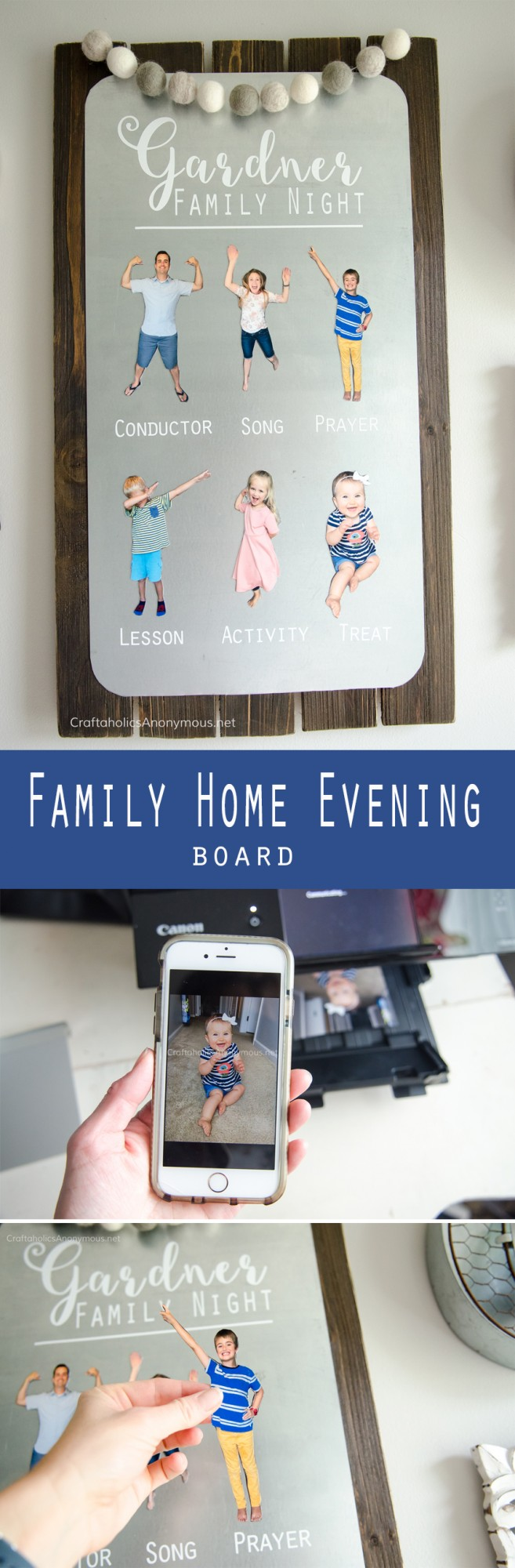 DIY FHE Board tutorial. Such a great idea to make people magnets!