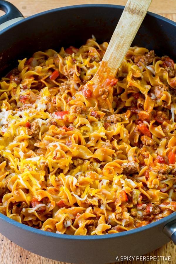 One Pot Sloppy Joe Noodles