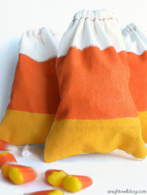 Candy Corn Favor Bags from A Night Owl Blog