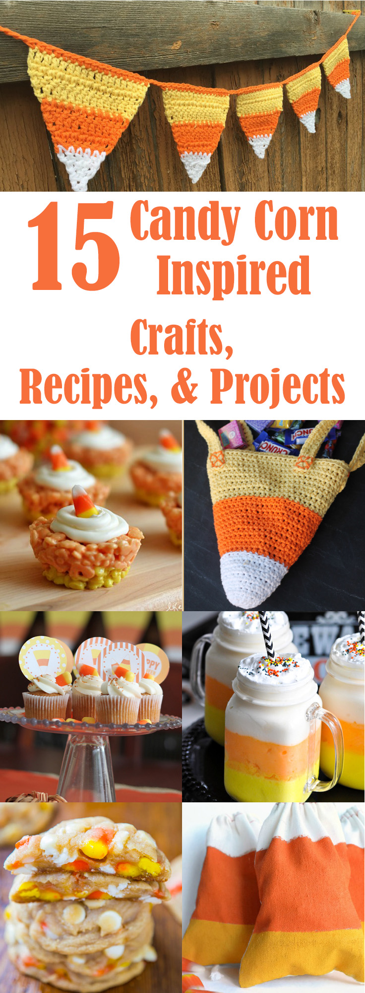 Candy Corn Inspired Projects, Crafts, and Recipes