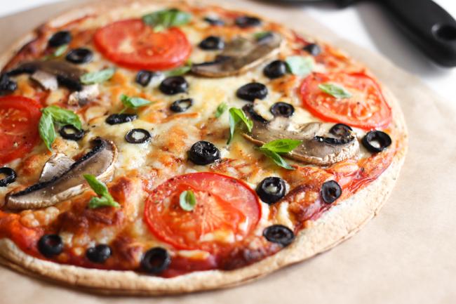 Veggie Pizza Quesadilla