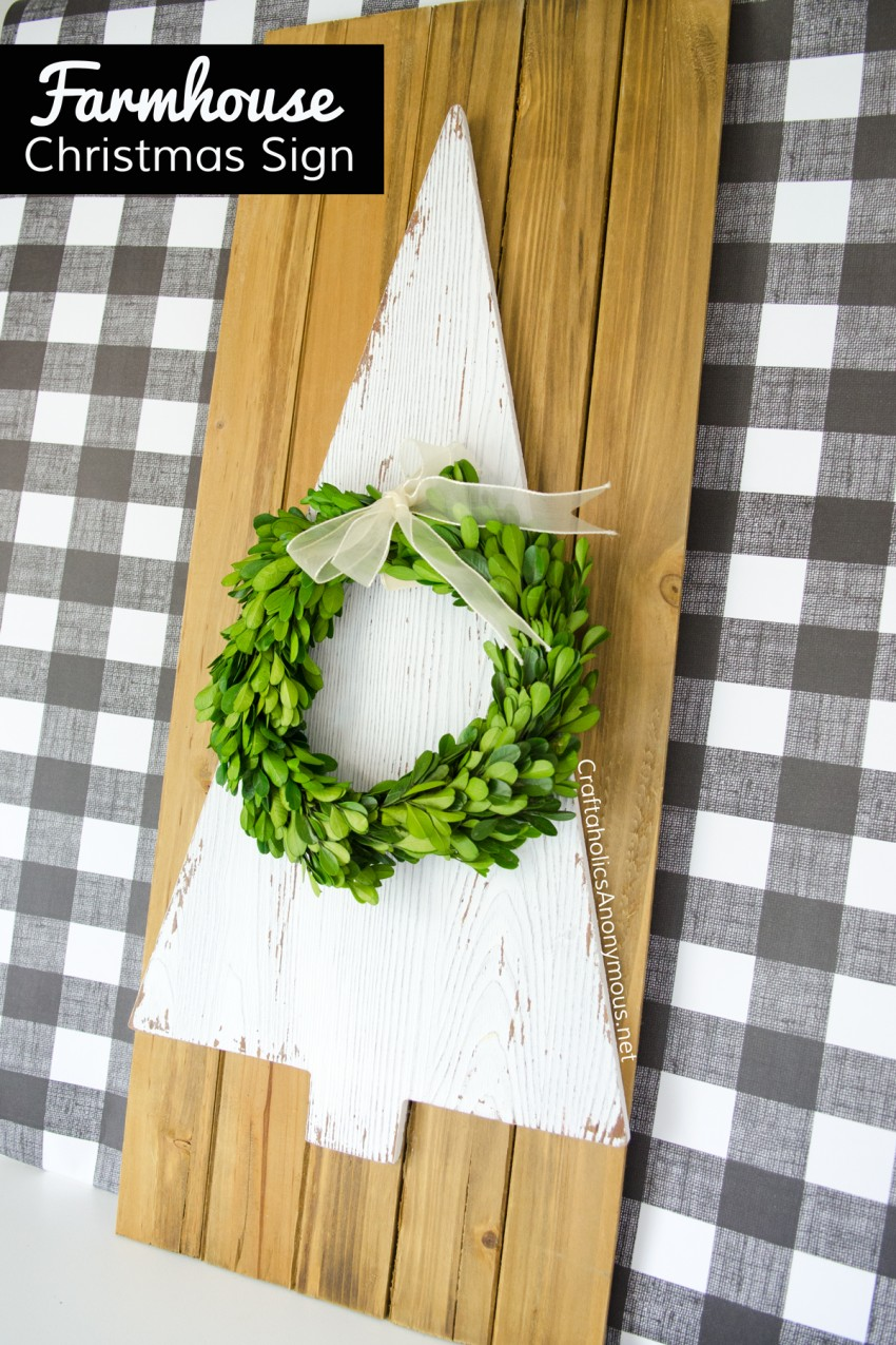 Farmhouse Christmas Sign DIY - EASY to make!!
