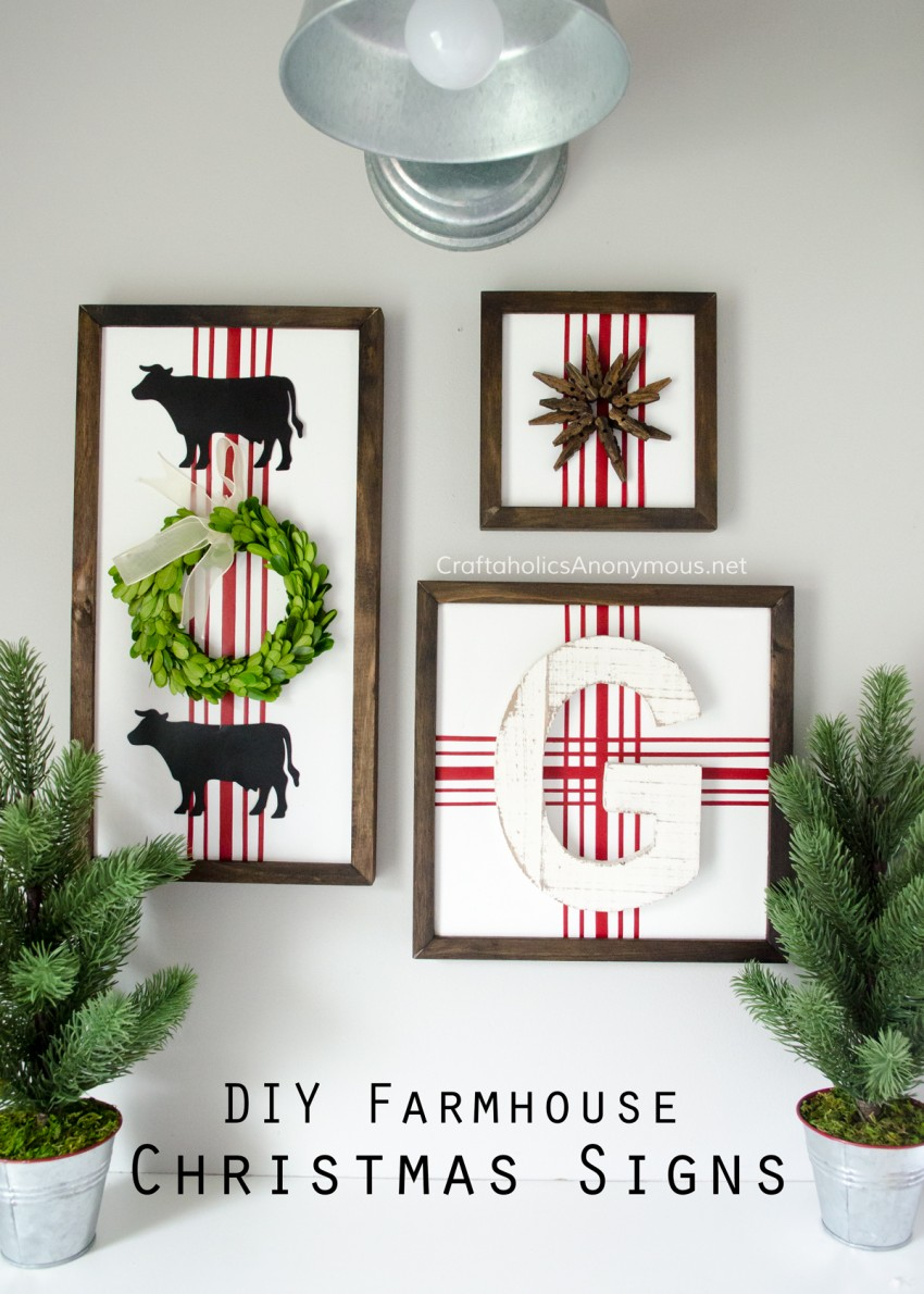DIY Farmhouse Christmas signs