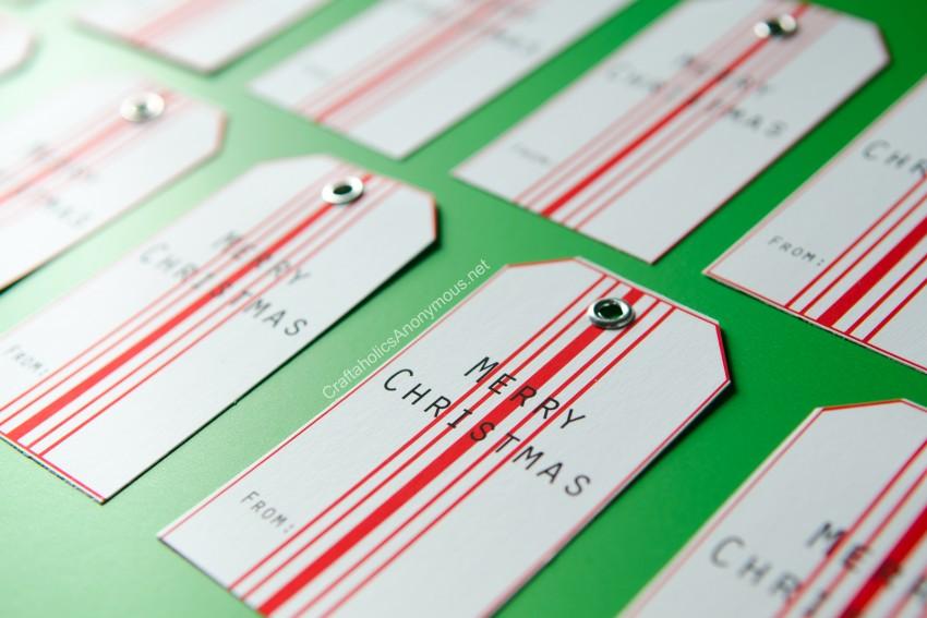 Farmhouse Christmas Gift Tags Free Printable + handmade gift idea
