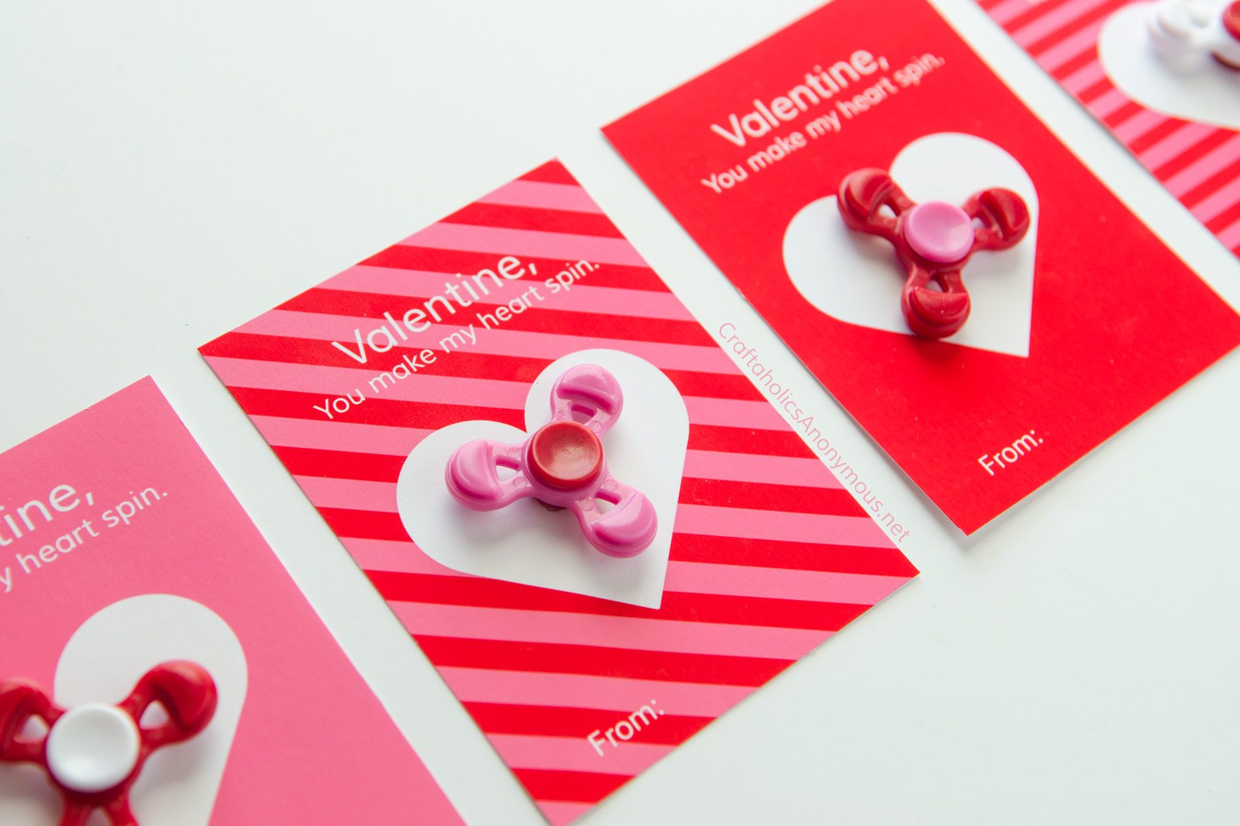 photo regarding Valentine Template Printable named Craftaholics Anonymous® Fidget Spinner Valentine Printables