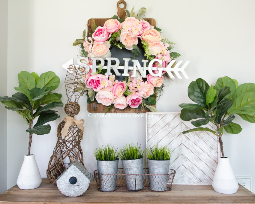 DIY Spring Decor and decorating ideas || Spring vignette