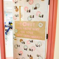 Teacher Appreciation Donut Door Decor idea