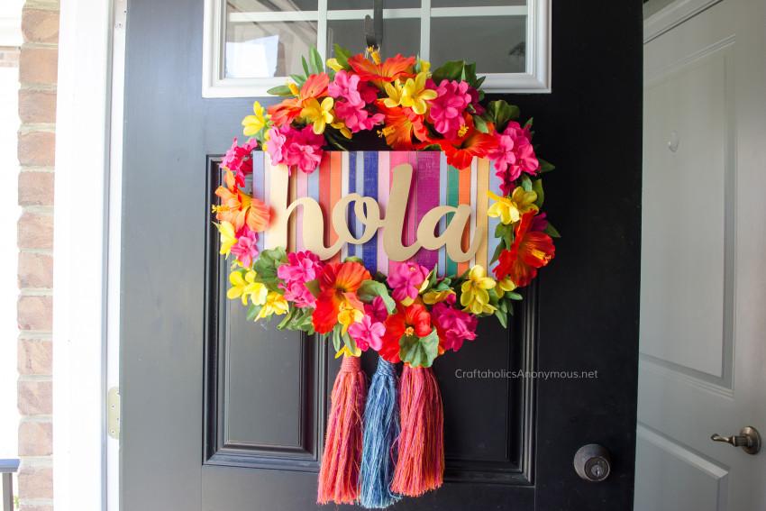 Summer Fiesta Wreath DIY