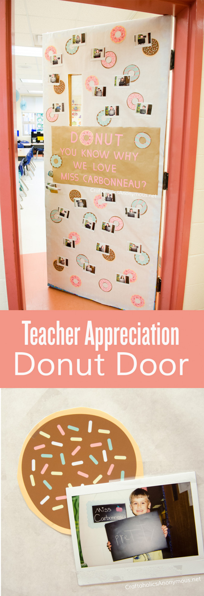 teacher appreciation door collage