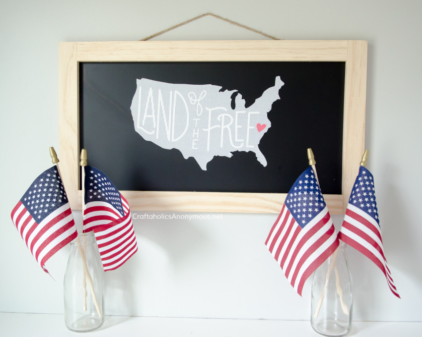 DIY 4th of July Sign - Farmhouse style
